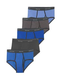 FRUIT OF THE LOOM MEN'S 6 PK or 10 PK FASHION BRIEFS Stripes