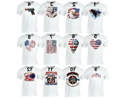 Men's American Flag Distressed 4th of July T-shirt Clothing