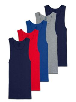 Fruit of the Loom Men's Assorted Colors A-Shirt Undershirts