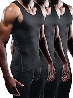 Neleus Men's Athletic 3 Pack Compression Under Base Layer Sp