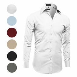 Men's Classic Fit Long Sleeve Wrinkle Resistant Button Down