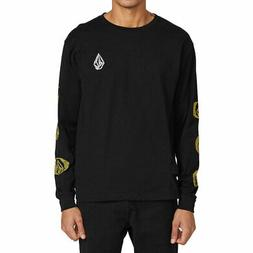Volcom Men's Future Stones Long Sleeve T Shirt Black Clothin