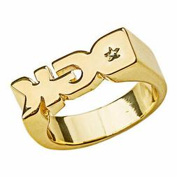 DGK Men's Logo Ring Gold Jewelry Golden Accessories Clothing