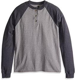 Hanes Men's Long-Sleeve Beefy Henley T-Shirt - XX-Large - Ox