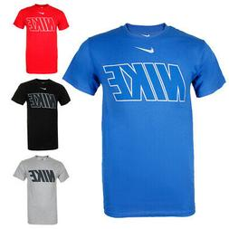 Nike Men's Athletic Wear Short Sleeve Logo Graphic Crew Neck