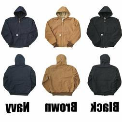 men s thermal lined duck active jacket