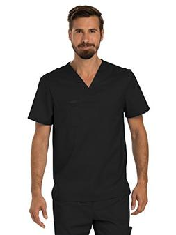 Cherokee Men's V-Neck Top, Black, M