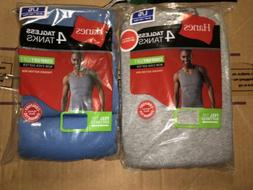 Hanes Mens 8 Pack Colored Tank Top A Shirts S M L XL 100% Co
