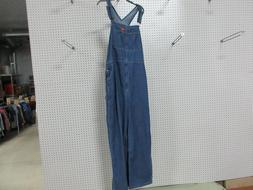 DICKIES MENS BLUE JEANS OVERALL 40X32 COVERALL SUSPENDER COT