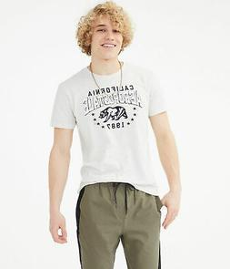 aeropostale mens california bear appliquac graphic tee