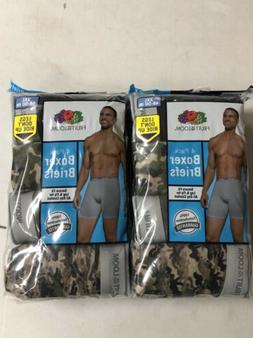 Fruit Of The Loom Mens Camouflage 8-Pack Boxer Briefs Tag Fr