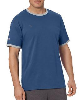 Champion Mens Classic Jersey Ringer Tee Athletic Fit 100% Co