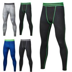 Mens Compression Long Pant Base Layer Sports Workout Legging