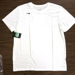 NIKE Mens Dri-FIT Cotton Training Tee Shirt 718588-101 White