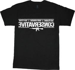 Mens Graphic Tees Conservative Pro Gun Rights AK47 T-shirt M