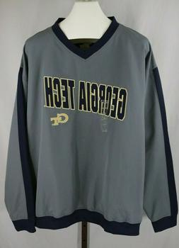 mens gray georgia tech embroidered long sleeve
