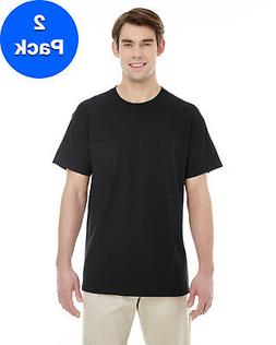 Gildan Mens Heavy Cotton T-Shirt with a Pocket 2 Pack G530 A