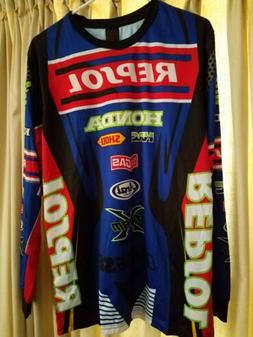 Mens HONDA  Racing Jersey XL, Runs Small