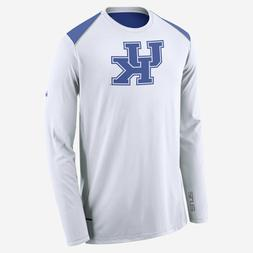 Mens Nike KENTUCKY WILDCATS BBall LS Shooter Shirt Sz L 3524
