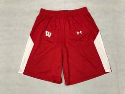 UNDER ARMOUR MENS L WISCONSIN BADGERS FURY BASKETBALL SHORT