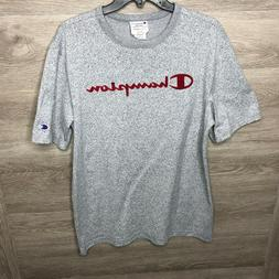 Champion Mens Large Heritage Athletic Apparel T Tee Shirt He