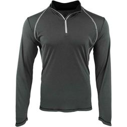 ASICS Mens Long Sleeve Athletic Apparel Top Quarter-Zip Size