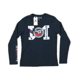 Nautica Mens Long Sleeve Graphic T-Shirt Maritime Navy Blue