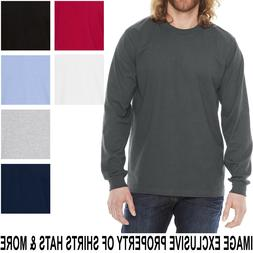 American Apparel Mens Long Sleeve T-Shirt Fine Jersey PRESHR