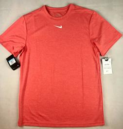 NIKE MENS M DRI FIT S/S DRI-FIT TEE SHIRT UPF 40+ SUN ORANGE