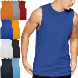 Mens Muscle Tank Top Shirts Cotton Sleeveless Gym Tee workou