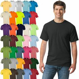 Gildan Mens Plain T Shirts Solid Cotton Short Sleeve Blank T