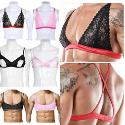 Mens Sexy Adult Sissy Male Training Bra Lingerie Satin Lace