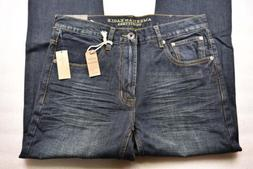 Mens American Eagle Outfitters, Slim Straight, Dark Tinted I