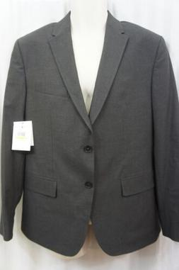 Calvin Klein Mens Sport Jacket Sz M Short Gunmetal Heather G