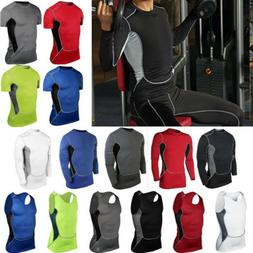 Mens Gym Compression Base Layer Running Vest Tights Tops Spo