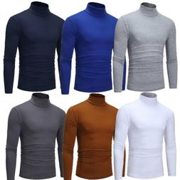 Mens Thermal Cotton Turtle Neck Skivvy Turtleneck Sweaters S