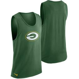 mens XL Nike nfl team apparel green bay packers dri-fit tank