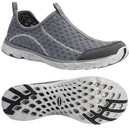 ALEADER Men's Mesh Slip On Water Shoes Dark Gray 9.5 D US