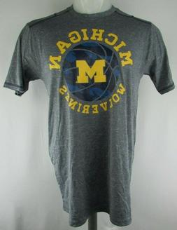 Michigan Wolverines Men's Knights Apparel Basketball Gray Te
