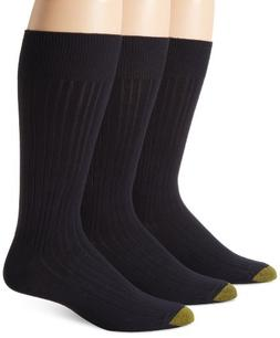 Gold Toe Men's Milan  Dress Sock, Navy, 10-13
