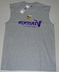 MINNESOTA VIKINGS NFL TEAM APPAREL MUSCLE T SHIRT TANK TOP M
