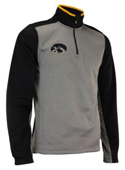 OuterStuff NCAA Men's Iowa Hawkeyes Top Notch 1/4 Zip Jacket