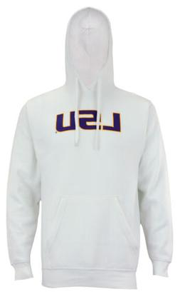 Outerstuff NCAA Men's LSU Tigers FZ Team Logo Hoodie, White