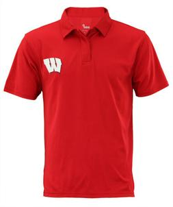 NCAA Men's Wisconsin Badgers Short Sleeve Performance Polo S