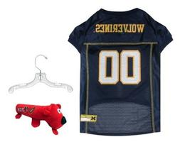 NCAA Michigan Wolverines Mesh Pet Jersey with Pet Hanger and