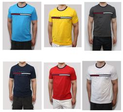 New Tommy Hilfiger Men Classic Fit Crew Neck Logo Tee Shirt