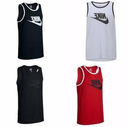 New Nike Mens Ace Logo Tank Top Tri-blend , gym,  black, red
