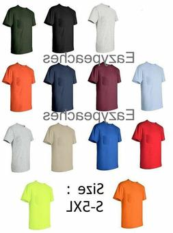 Gildan NEW Mens Size S-XL 2XL 3XL 4XL 5XL Pocket Tees 100% C