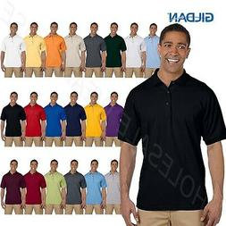 NEW Gildan Mens Ultra Cotton Ringspun Pique Sport Shirt Polo