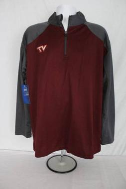 NEW Mens Virginia Tech Pullover Jacket Size 2XL 1/4 Zip NCAA